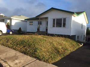 4bedroom house 79 Frecker Dr call 709 749 3787