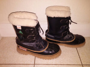 Steel Toe/CSA certified wool lined winter boots