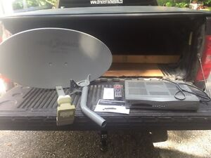 Satellite Receiver, Dish, Remote Control, Instruction Books...