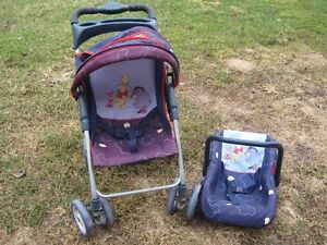 Winnie the pooh Doll stroller and carrier set