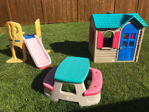 Playhouse, Slide and Table For Tots