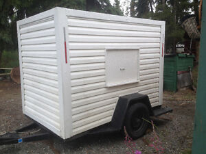 5X8 Enclosed Trailer,Heavy Duty Frame, new,Tires,Wired ect