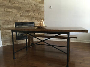 ~~~ Solid wood rustic dining set with a bench ~~~