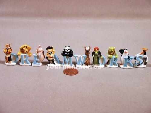 Dreamworks Feves Porcelain 10 Figurines Shrek, Fiona, Donkey, Cat Epiphany Cake