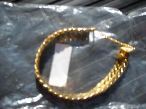 GOLD plated bracelet 24K New Unused Unworn LIQUIDATION SALE