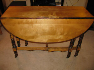 Solid Walnut Gate-Leg Table - $166 REDUCED