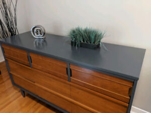 Mid century dresser cabinet sideboard tv media stand