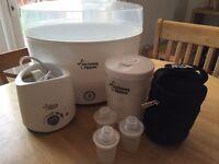 Tommee Tippee steriliser - bottle warmer - thermal bag - formula dispensers- microwave steriliser