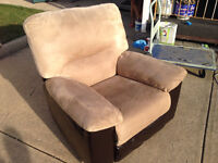 Comfy recliner and rocking chair