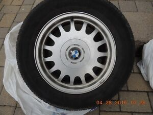 "Set of 16"" BMW rims with Bridgestone Turanza tires 225/60/16"