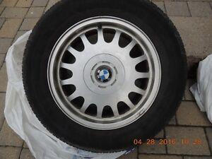 "Set of 16"" BMW rims with Bridgestone Turanza tires 225/60/16"