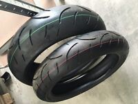 Dunlop qualifier 2 pair of tyres. 190 and 120
