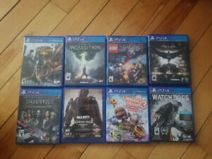 PS4 games 15 dollars each
