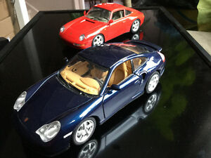 Pair of 1/18 scale Porsche diecast cars
