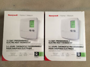 2 Honeywell programmable thermostats (new)