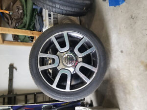 "22"" Harley davidson truck rims, with tires."