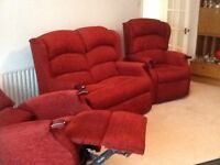 HSL 3 Piece Suite (2 Electric Reclining Chairs)