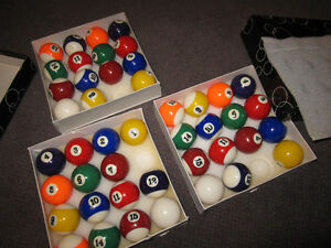 Billiard Balls - Traditional Sets ( Missing 8-Balls) - in Box Kitchener / Waterloo Kitchener Area image 2
