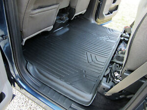 2015 & up FORD F150 SuperCrew NEW Maxliner Black Rear Floor Mat