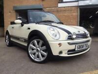 2008 08 MINI CONVERTIBLE 1.6 COOPER 2D ONLY 45,000 6 SERVICES, STUNNING