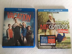 2 BLURAYS VACATION & BAD GRANDPA include DVDs as well