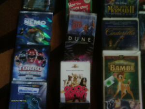 Assorted VHS and DVD Movies
