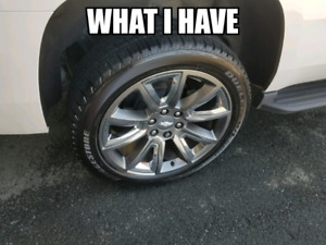 22 inch gm rims and tires