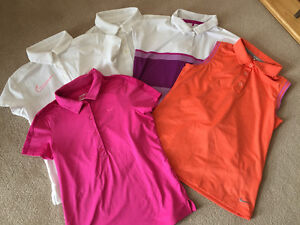 Girls Nike Golf Shirts - Lot of 5, Size M and L
