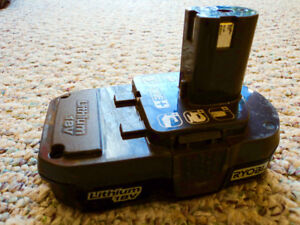 ... WANTED A GOOD USED RYOBI 18 + LITHIUM BATTERY