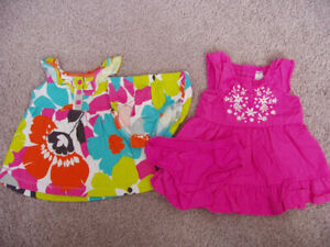 Carter's Lot of 2 Dress Sets, Baby Girl Size 3 Months
