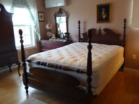 Antique Pineapple Headboard and Footboard