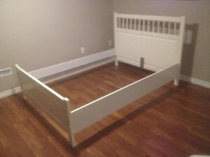 Solid Wood White Ikea Hemnes Double / Full Bed Frame