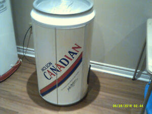 MAN CAVE RADIO-C.D. DBLE CASSETTE PLAYER BEER CAN.