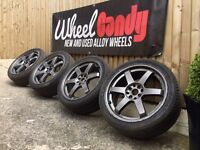 """18"""" rota style alloy wheels and tyres 4x100 4x114.3"""