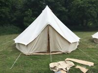 5m cream bell tent for sale