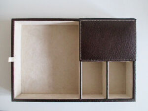 Men's Leather Catchall/Valet Tray