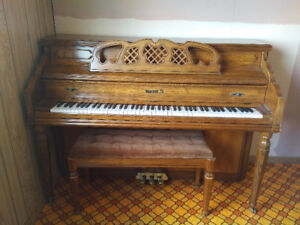 Baby Upright Grand piano for sale.