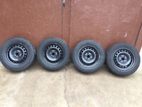 VW rims and winter tires. 195/65R15 Kitchener / Waterloo Kitchener Area Preview
