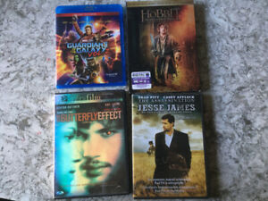 DVD movies: Guardians II, Hobbit, Butterfly Effect, Jesse James