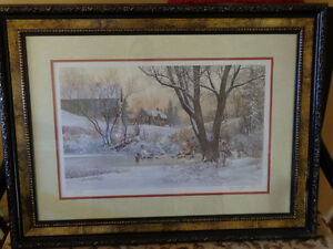 """D.R. Laird """"Next Goal Wins"""" Limited 1397/1950 Signed by Artist Kitchener / Waterloo Kitchener Area image 1"""