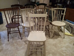 8 Wooden Chairs (Old) - REDUCED!! Kawartha Lakes Peterborough Area image 4