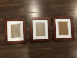 3 Picture Frames 8X10 with 5X7 Matte