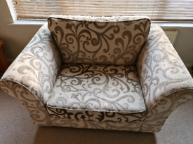 Cream cuddler sofa from Next - good condition