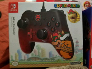 Official Nintendo Switch PowerA wired controller Bowser edition