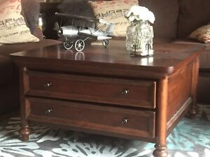 Beautiful Square Solid Wood Coffee Table