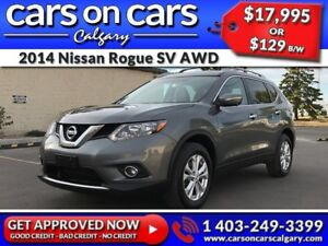 2014 Nissan Rogue SV AWD 7 Pass w/Sunroof, Navi, 360 Cam $129 B/