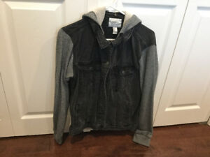 Fall Forever21 hooded denim jacket