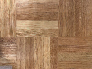Canadian Made Red Oak Parquet 5 bar and 7 bar