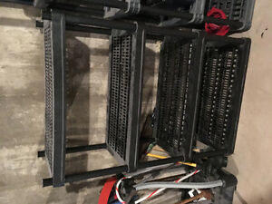 2 heavy duty plastic shelving units for sale