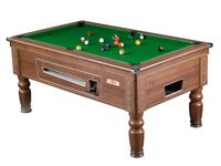 SUPREME PRINCE POOL TABLE 7 X 4 MAHOGANY SLATE BED IN STOCK
